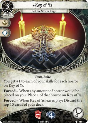 Arkham Horror ArkhamDB Most popular 5XP Card Key of Ys