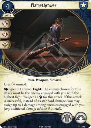 Arkham Horror ArkhamDB Most popular 5XP Card Flamethrower